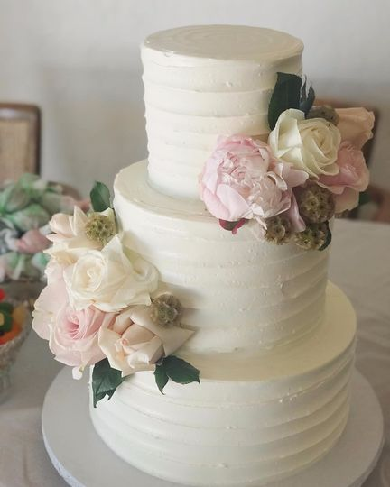 Rustic Textured Wedding Cake