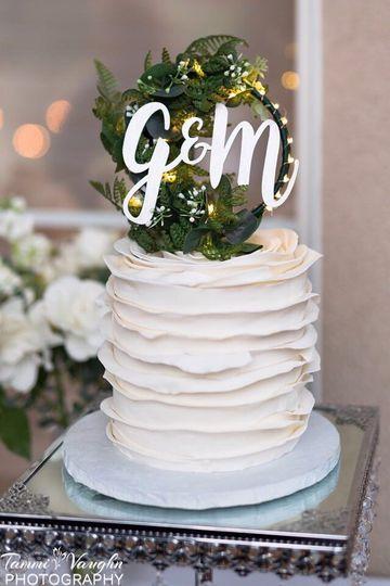 Ruffled Mini Wedding Cake