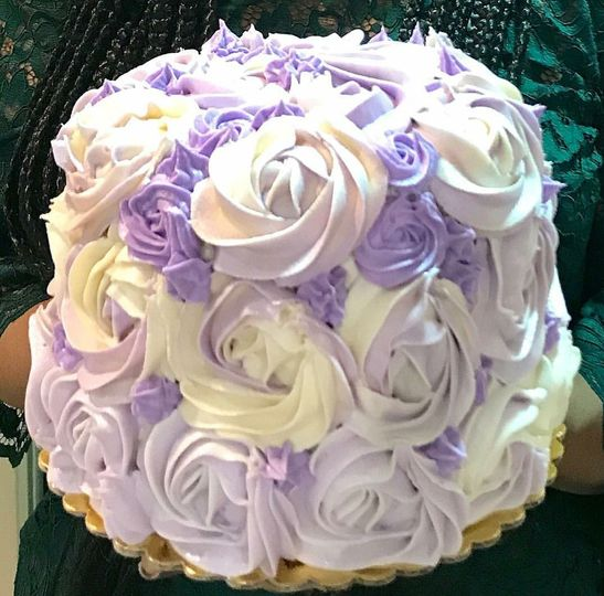 Lavender honey cake with swiss meringue buttercream