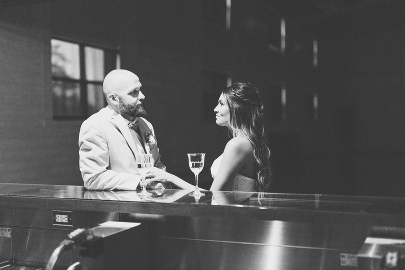 Couple enjoying a drink