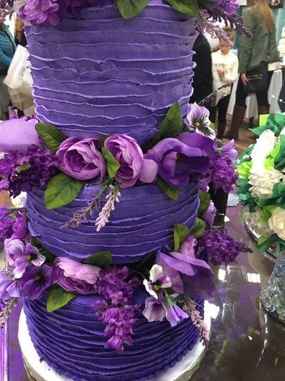 Bold color cake