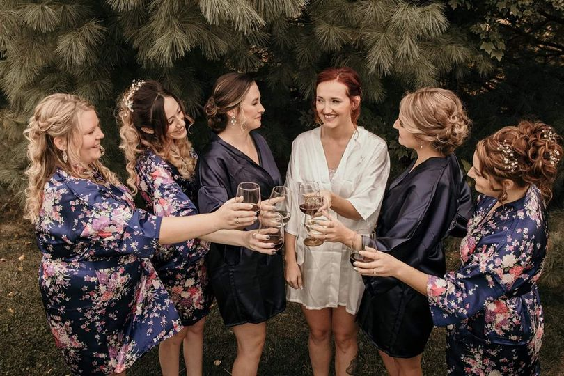 Cheers to the newly bride