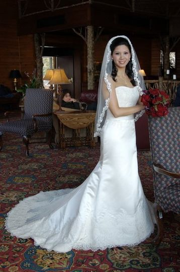Wedding Gown. Photo taken at Brasstown Valley Resort