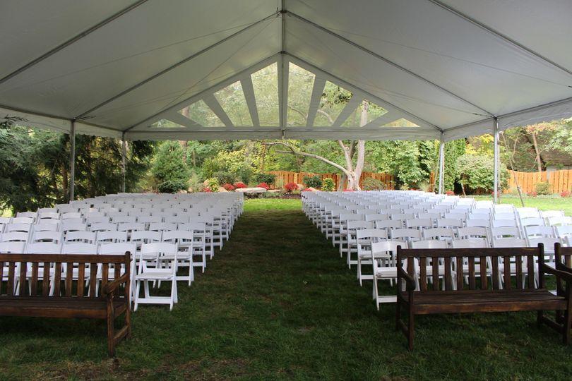 40x60 ceremony frame tent