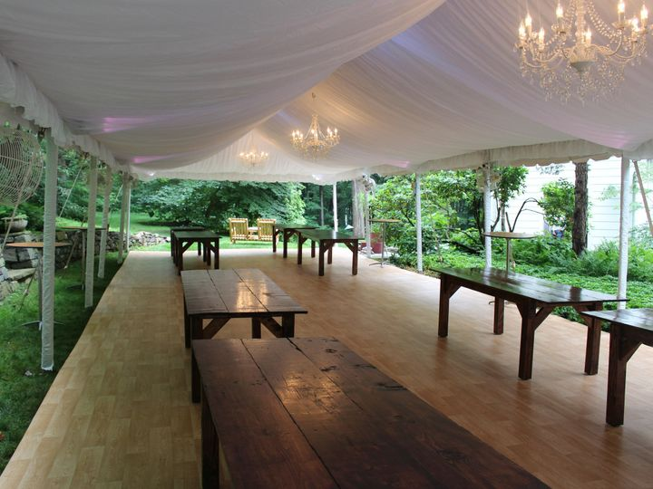 Tmx 1458045197295 Crystal Chandeliers And Fabric Liner In A 20x60 Fr Manheim wedding rental