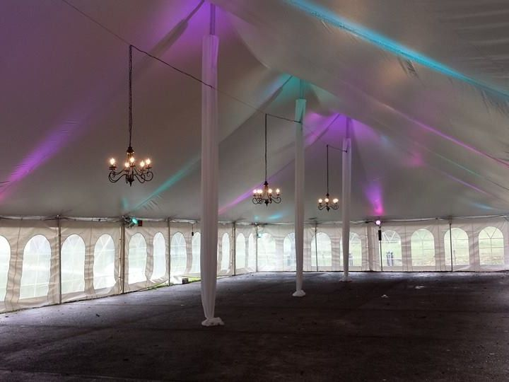Tmx 1458045461636 Pole Tent With Black Chandeliers And Led Lighting Manheim wedding rental