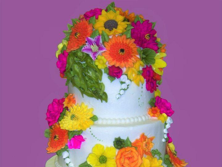 Tmx 1530136604 Ba0c3c39483f7349 1530136602 62cd6934111cb5b6 1530136603168 7  14 Good FlowerPow Horsham wedding cake