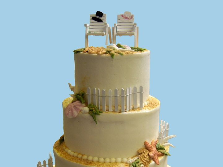 Tmx 1530136780 1ac7de920f4623ca 1530136778 6b8abda7a5bc44d0 1530136779229 22  18 Good Seashell Horsham wedding cake
