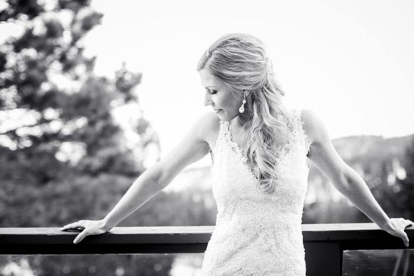Bride Posing on Deck at Tannen