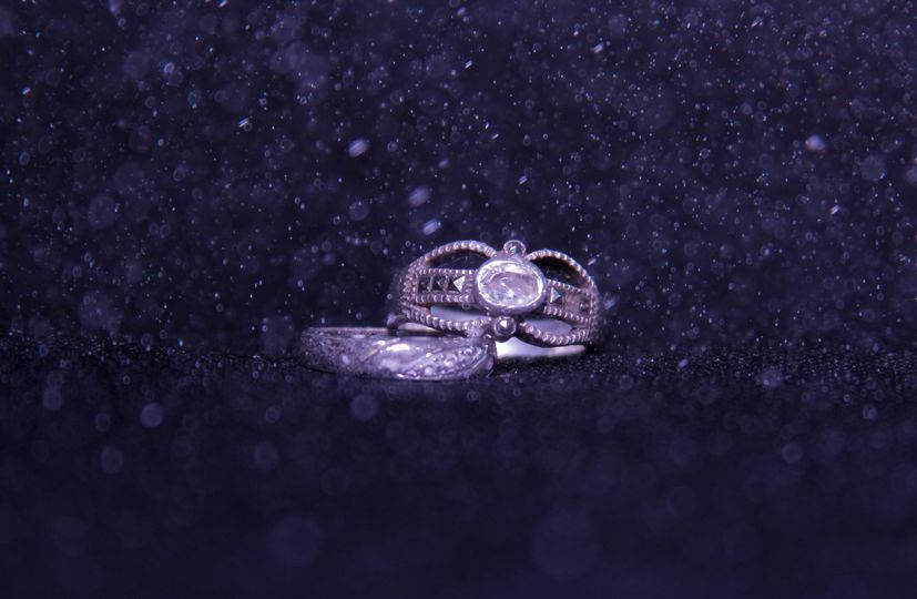 wedding rings sparkling dots 1 of 1
