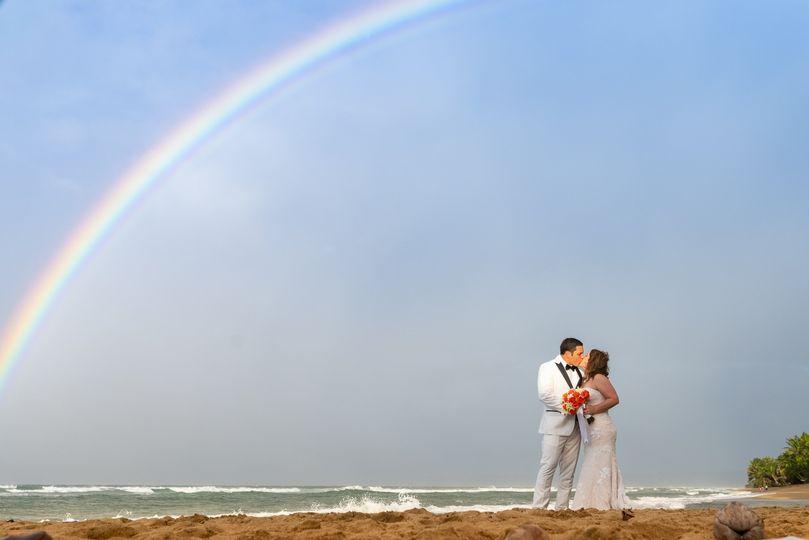 Newlyweds Rainbow Kiss