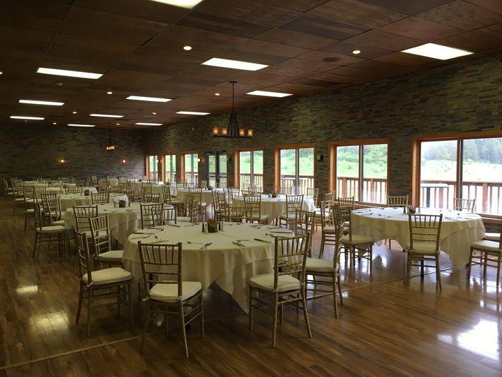 Indoor wedding table set-up