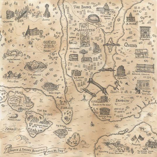 Custom anniversary map