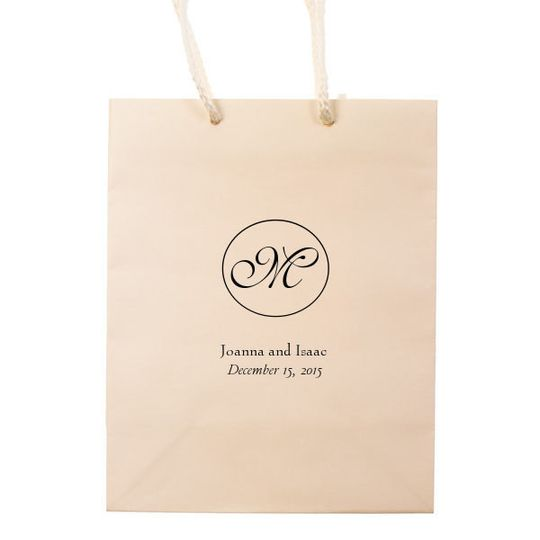 monogrammed hotel welcome bag tote wedding favor t