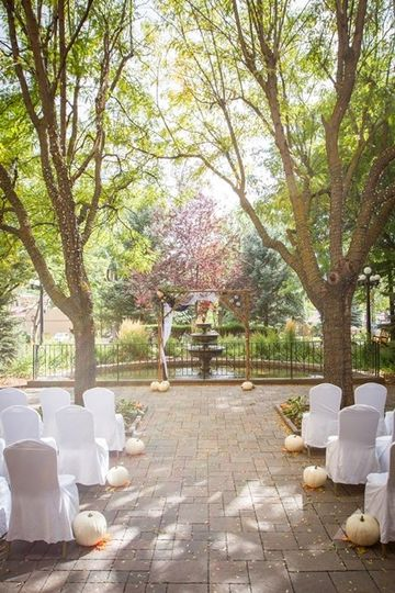 September courtyard ceremony