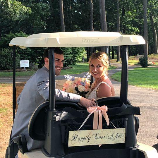 Golf Cart to Covered Bridge