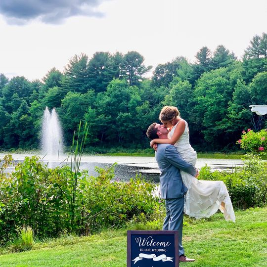 Couple at Water Fountain