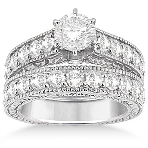 Tmx 1448992269953 Antique Center 1 5 Carat Simulated Diamond Wedding Wayne wedding jewelry