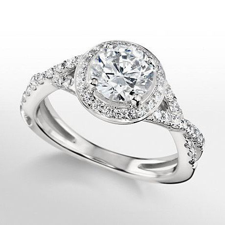 Tmx 1448992526512 Monique Lhuillier Twist Shank Halo Engagement Ring Wayne wedding jewelry