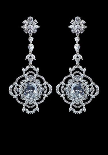 Betta Crystal Drop Earrings