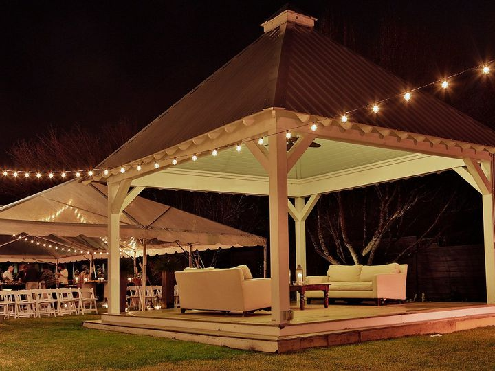 Tmx 1481727502468 Cafe Lighting By Covered Porch Area Mount Pleasant, SC wedding venue