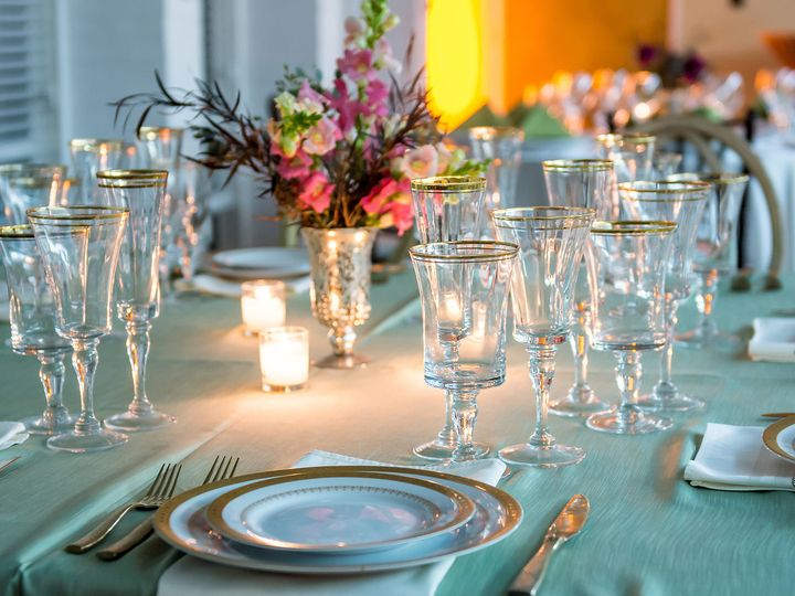 Tmx 1481727515719 Tabel Set Up With Candles And Flowers Mount Pleasant, SC wedding venue
