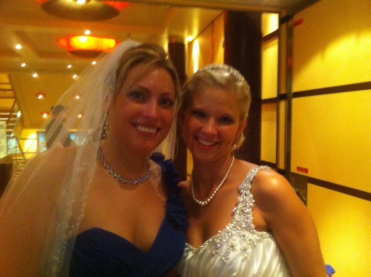 With the bride
