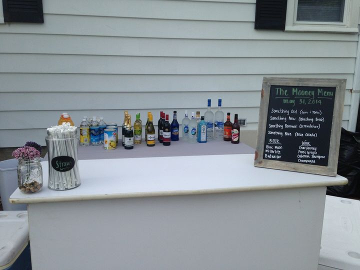 Wedding wine area