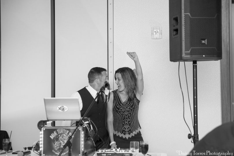 DJ and company partying