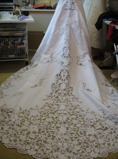 Wedding gown detailing