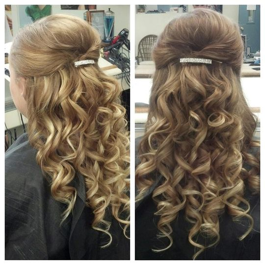 Profile and back view of curls
