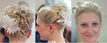 Details of hair with hairpin