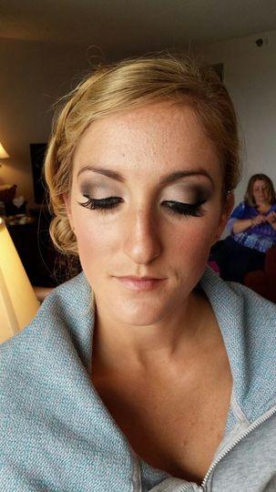 Eyeshadow and eyelash work