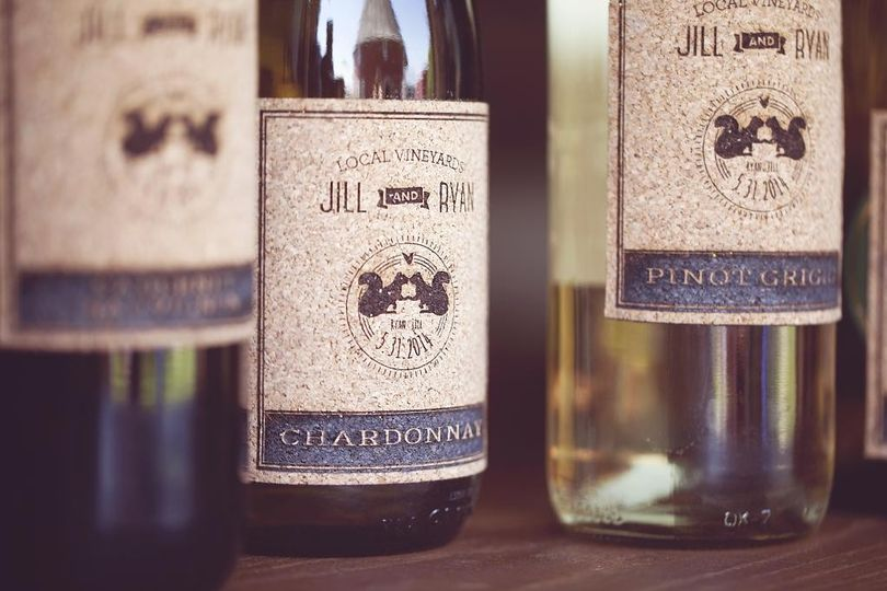 Custom cork wine bottle labels for custom feel for wedding or to be used for table numbers and...