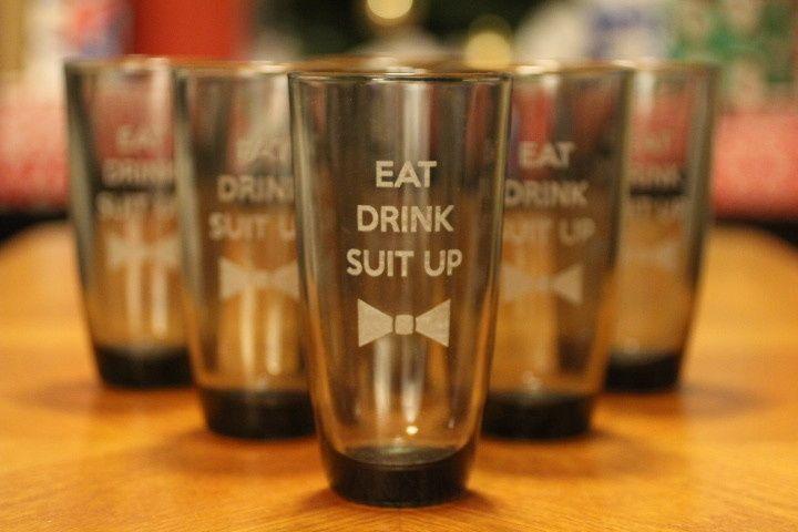 Custom laser engraved wedding favors, glassware, stemware, bridesmaid and groomsmen gifts.