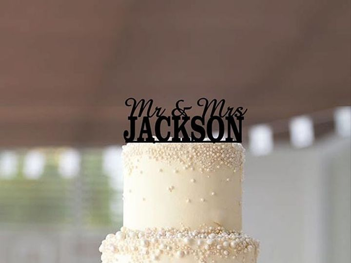 Tmx 1424451797605 Wedcaketoppermrmrsname Anderson, Indiana wedding favor