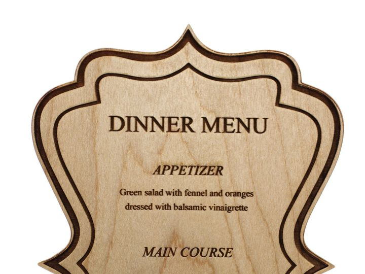 Tmx 1424455471705 Wooddinnermenu Anderson, Indiana wedding favor