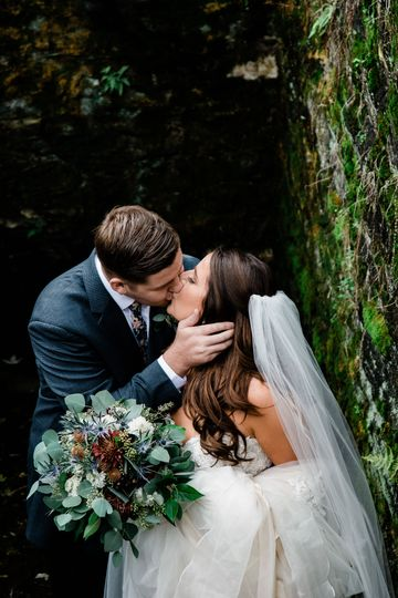 Couple's kiss | Forest Heart Photography