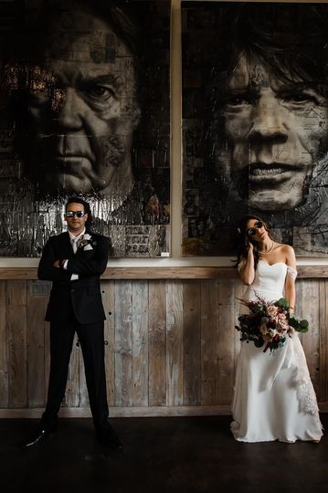 The coolest bride and groom
