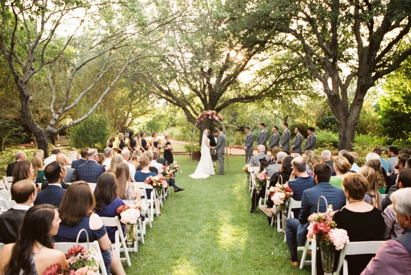 Wedding ceremony | Photo credit: Ashley Monogue Photography | Location: Summer House Lawn