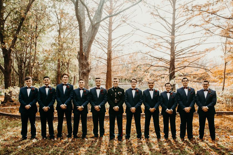 Groom and groomsmen | Photo credit: Lindsey Paradiso | Date: November