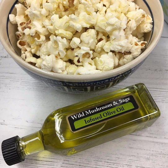 Product next to popcorn