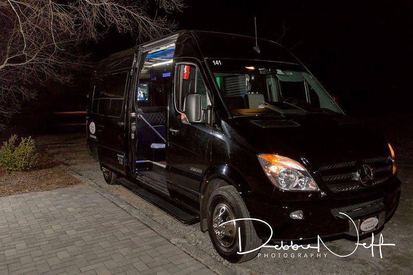 Black car at night