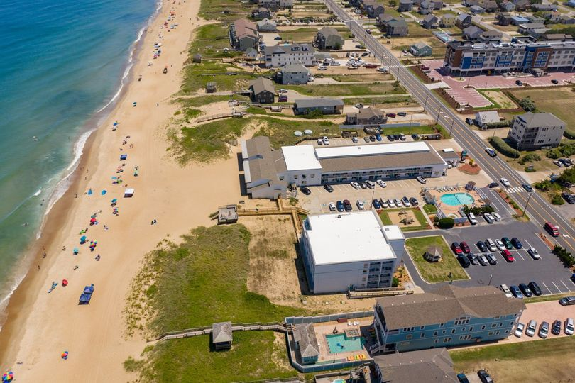 Aerial of oceanfront