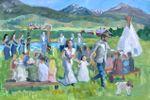 K Potter Fine Art Wedding Painter image