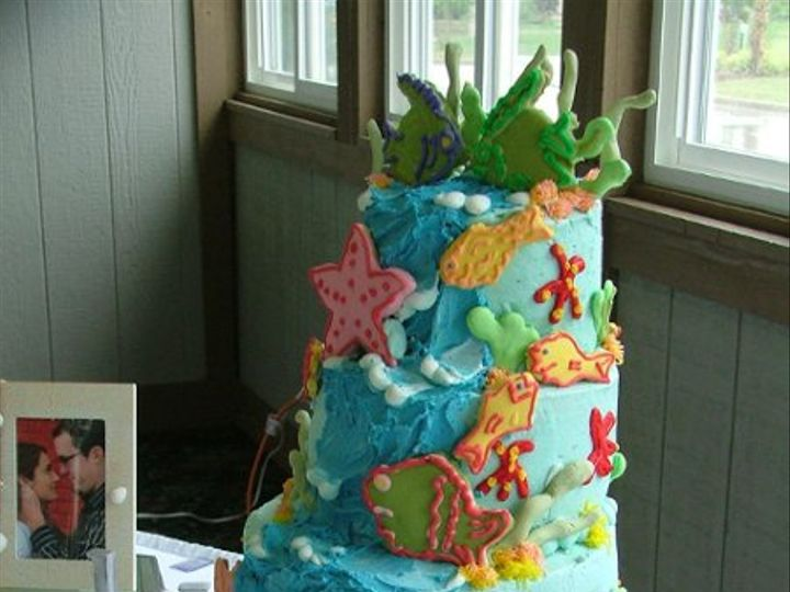 Tmx 1235391461727 June08 Christmas Weddingcakes062 Lapel wedding cake
