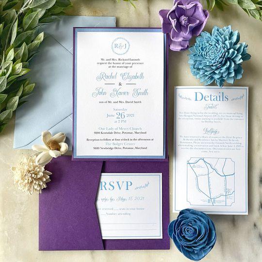 Pocket-style invitation