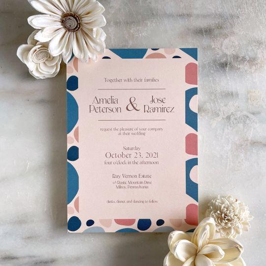 Bold Earth wedding invitation