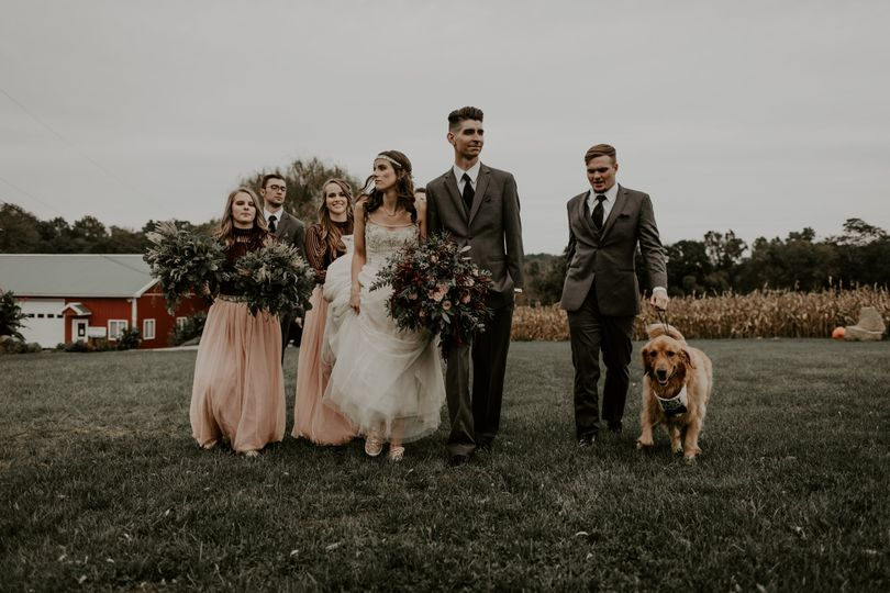 Newlyweds and their guests