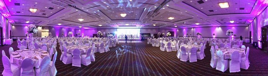 Panoramic ballroom shot